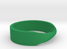 Ring Mobius in Green Strong & Flexible Polished