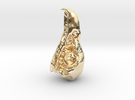 Bald Eagle Skull Pendant in 14K Gold