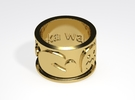 Pac-man inspired Ring Size 10 in Raw Brass