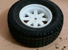 Tamiya Subaru Brat Wheels in White Strong & Flexible Polished
