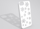 Snowflake iPhone 5 case in White Strong & Flexible