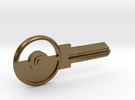 Pokeball House Key Blank - KW1/66 in Raw Bronze