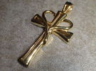 Heart Cross Pendant in 18k Gold Plated