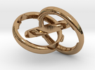 Three Phase Size 6 in Interlocking Polished Brass