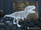 Dinosaur - T-Rex( Digital Extinction) in White Strong & Flexible