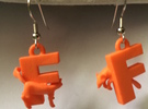 F Is For Fox in Orange Strong & Flexible Polished