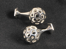 Bucky Cufflinks in Polished Silver