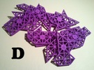 Ptarmigan Puzzle (Set D) in Purple Strong & Flexible Polished
