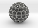 Radiolarian Sphere 2 in Metallic Plastic