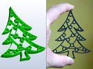 Christmas Tree Cookie Cutter (3 layers, 10 mm) in White Strong & Flexible