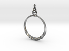 BlakOpal Twisting Hoop Earring in Interlocking Polished Silver