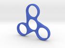 Fidget Spinner Triskele in Blue Strong & Flexible Polished