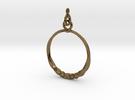 BlakOpal Twisting Hoop Earring in Interlocking Polished Bronze