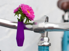 Dimpled Bike Planter in Purple Strong & Flexible Polished