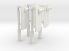 [4st] Voorwaarschuwingspalen (VWS) 1:87 (H0) in White Strong & Flexible