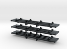 N Scale West Side '4 Bunk' Skeleton Log Car in Black Hi-Def Acrylate