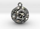 160913 Flora Pendant V03 in Polished Silver