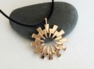 Pendant - 3D Printed Sun in Fine Metals in Polished Bronze