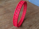 ArmbandRondSmall in Red Strong & Flexible Polished