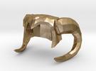 Horned Lady Helmet in Polished Gold Steel