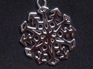 Snowflake Pendant #3 in Polished Silver