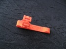 Pen Clip: for 12.0mm Diameter Body in Orange Strong & Flexible Polished
