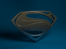 Man Of Steel - Double Sided in Stainless Steel