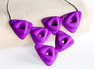 Rose Necklace in Purple Strong & Flexible Polished