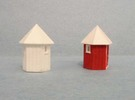 N scale Santa Fe hexagonal phone booth - 1 in Frosted Ultra Detail
