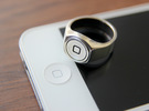 Home button Ring in Polished Silver