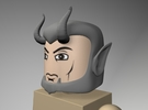Devil or Satyr Head for Minimate in Frosted Ultra Detail