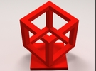 Impossible Cube in Red Strong & Flexible Polished
