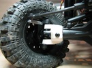 Axial SCX C-hub left side V2 in White Strong & Flexible