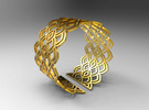 Bracelet Waw Stl in Polished Gold Steel