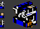 8-bit cutout (Lode Runner) in Full Color Sandstone