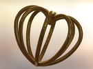 All Heart Pendant in Polished Gold Steel