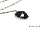 Cat Skull Pendant in Black Strong & Flexible