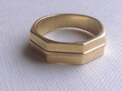 Roger Ring in Polished Brass