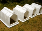 "1/64th ""S"" Scale Calf Hutch set of Six in White Strong & Flexible Polished"