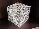 Diamant de Sierpinski in White Strong & Flexible