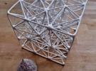 Cube Mesh Organic in Polished Bronze Steel