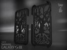 "Samsung - Galaxy S3 ""Tree of life"" Cover Case in Black Strong & Flexible"