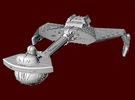 Enemy Battle Cruiser 005 in Frosted Ultra Detail