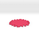 Drink Coaster - Interlocking - Splat Design in Pink Strong & Flexible Polished