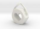 Heart Nut Pendant in White Strong & Flexible