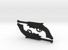 1:6 Browncoat Pistols (set of 2) in Black Acrylic