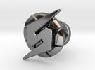 Metroid Symbol Cufflink in Premium Silver
