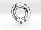 TRON: Legacy Identity Disk - Negative Space in Premium Silver
