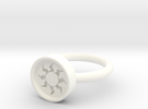 White Ring10 in White Strong & Flexible Polished