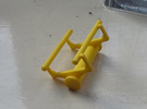 Small Roller Coaster paperweight (Vekoma/Arrow) in Yellow Strong & Flexible Polished